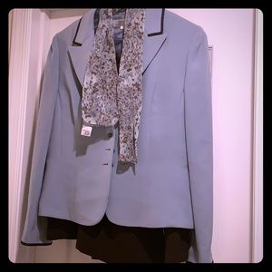 Tahari-Blue/Brown skirt suit- never worn with tags